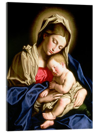 Acrylic print  Madonna and child - Il Sassoferrato