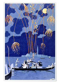 Premium poster  Fireworks in Venice, Fetes Galantes - Georges Barbier