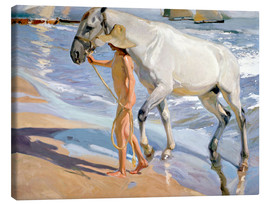Canvas print  Washing the Horse - Joaquín Sorolla y Bastida