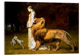Acrylic print  Una and the Lion, from Spenser's Faerie Queene - Briton Riviere