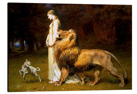 Aluminium print  Una and the Lion, from Spenser's Faerie Queene - Briton Riviere