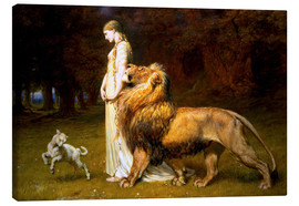Canvas print  Una and the Lion, from Spenser's Faerie Queene - Briton Riviere