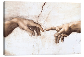 Canvas print  The Creation of Adam (detail of hands) - Michelangelo