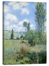 Canvas print  Way through the poppies - Claude Monet