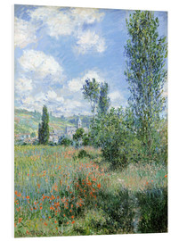 Foam board print  Way through the poppies - Claude Monet