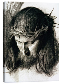Canvas print  Head of Christ - Franz von Stuck