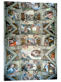 Acrylic print  Sistine Chapel ceiling and lunettes - Michelangelo