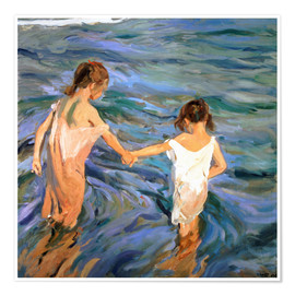 Premium poster  Children in the Sea - Joaquín Sorolla y Bastida