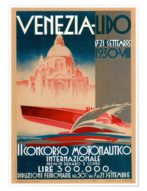 Premium poster  Venezia Lido 1930 - Travel Collection