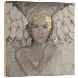 Wood print  Guardian angel - Sam Reimann