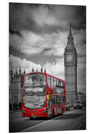 Foam board print  LONDON Red Bus and Big Ben - Melanie Viola