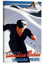 Canvas print  Skiing in the Canadian Rockies - Travel Collection