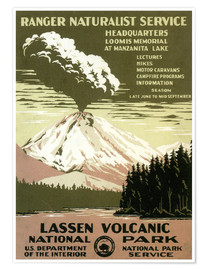 Premium poster  Lassen Volcanic - National Park - Travel Collection
