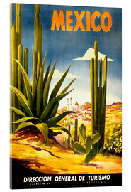 Acrylic print  Mexico cactus - Travel Collection