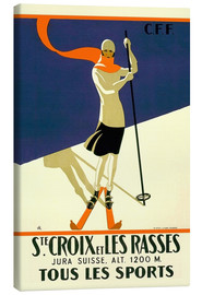 Canvas print  Skiing in Sainte-Croix - Travel Collection