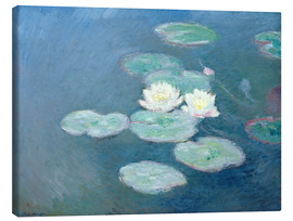 Canvas print  Waterlilies, Evening - Claude Monet