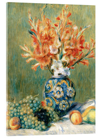 Acrylic print  Still Life with Fruit and Flowers - Pierre-Auguste Renoir