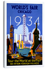 Canvas print  Chicago - Worlds Fair 1934 - Travel Collection