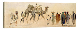 Canvas print  Departure to the desert, 1858 - Carl Haag