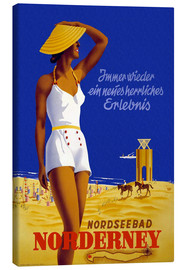 Canvas print  North Sea bath on Norderney - Travel Collection