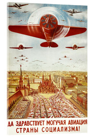 Acrylic print  Aircraft parade on Moscow - Advertising Collection
