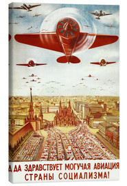 Canvas print  Aircraft parade on Moscow - Advertising Collection