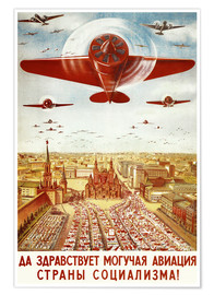 Premium poster  Aircraft parade on Moscow - Advertising Collection
