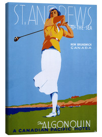 Canvas print  St. Andrews - Golf - Advertising Collection