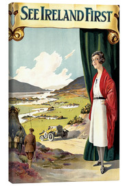 Canvas print  see Ireland first - Travel Collection