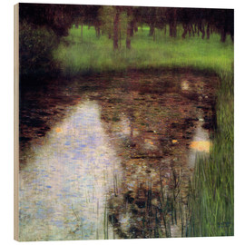Wood print  The swamp - Gustav Klimt