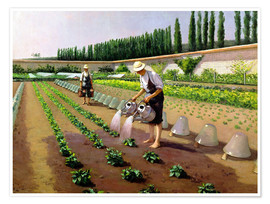 Premium poster  The Gardeners - Gustave Caillebotte