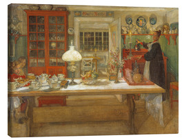 Canvas print  Getting Ready for a Game - Carl Larsson
