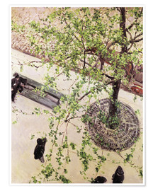 Premium poster  Boulevard from above - Gustave Caillebotte