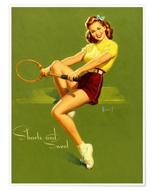 Premium poster  Pin Up - Shorts and Sweet - Al Buell