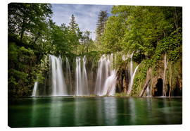 Canvas print  Paradise Waterfall in Plitvice - Andreas Wonisch