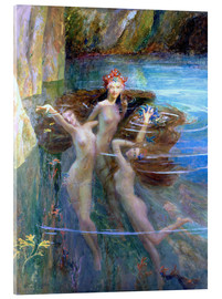 Acrylic print  Water Nymphs 1927 - Gaston Bussiere