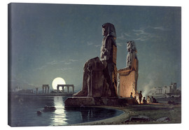 Canvas print  The Colossi of Memnon, Thebes - Carl Friedrich Heinrich Werner