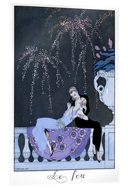 Acrylic print  The Fire - Georges Barbier