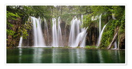 Premium poster  Paradise like waterfall in plitvice - Andreas Wonisch