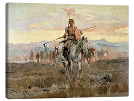 Canvas print  Stolen horses, 1911 - Charles Marion Russell
