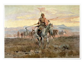 Premium poster  Stolen horses, 1911 - Charles Marion Russell
