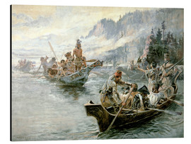 Aluminium print  Lewis & Clark on the lower Columbia River, 1905 - Charles Marion Russell