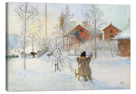 Canvas print  The Yard and Wash-House - Carl Larsson