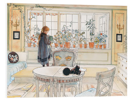 Foam board print  Flowers on the windowsill - Carl Larsson