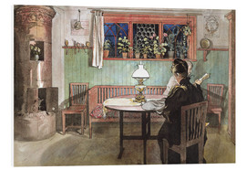 Foam board print  When the Children have Gone to Bed - Carl Larsson