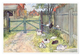 Premium poster  The Gate - Carl Larsson