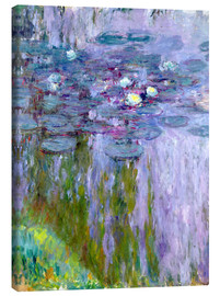 Canvas print  Waterlilies - Claude Monet