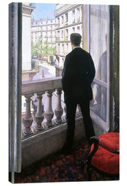 Canvas print  Man at the Window - Gustave Caillebotte