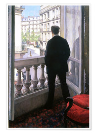 Premium poster  Man at the Window - Gustave Caillebotte