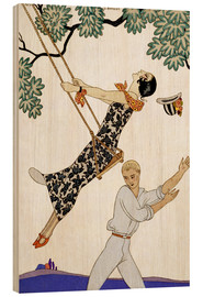 Wood print  The Swing, 1920s - Georges Barbier